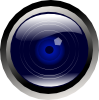 free vector Blue Camera Lens clip art