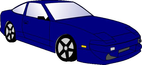 Blue Car clip art Free Vector / 4Vector