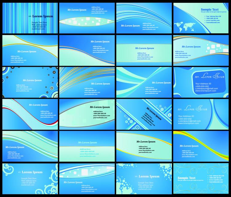 free vector Blue card background vector