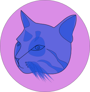 free vector Blue Cat clip art