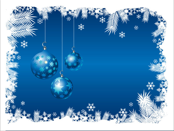 Blue christmas background (16785) Free