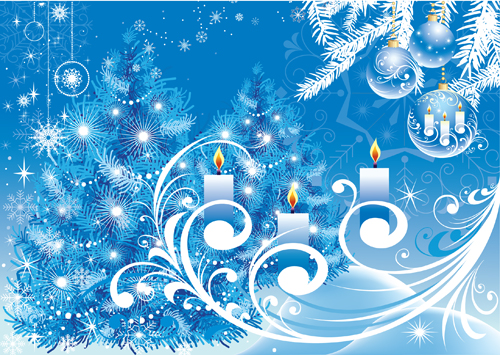 free vector Blue christmas background vector