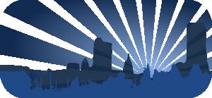 free vector Blue City Scene clip art