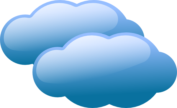 free vector Blue Clouds clip art