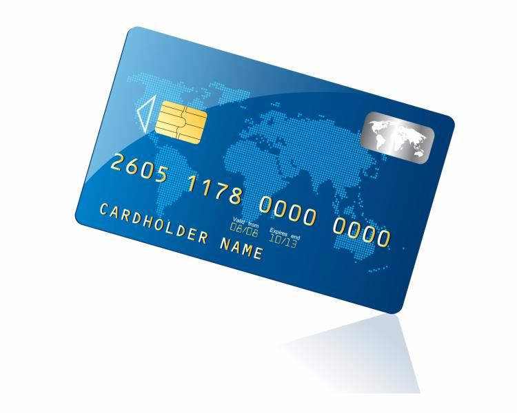 Blue credit card Free Vector / 4Vector