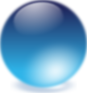 free vector Blue Cristal Ball clip art