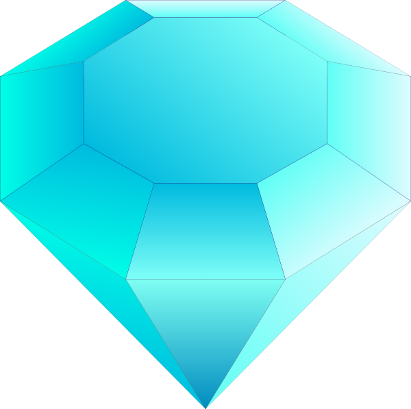 free vector Blue Cut Gemstone (saphire) clip art