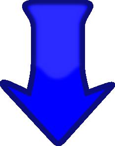 free vector Blue Down Arrow clip art