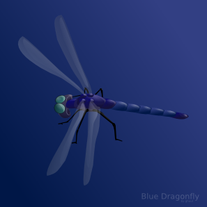 free vector Blue Dragonfly clip art
