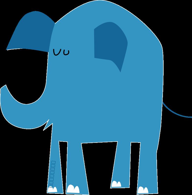 free vector Blue elephant