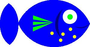 free vector Blue Fish clip art
