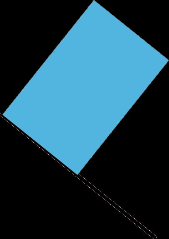 free vector Blue flag