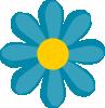 free vector Blue Flower clip art