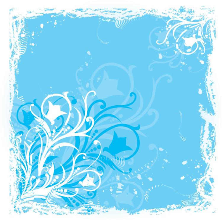 Blue Flower Graphics Free Vector / 4Vector