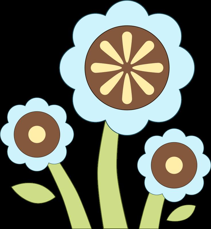 free vector Blue Flower
