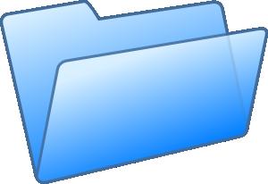 free vector Blue Folder clip art