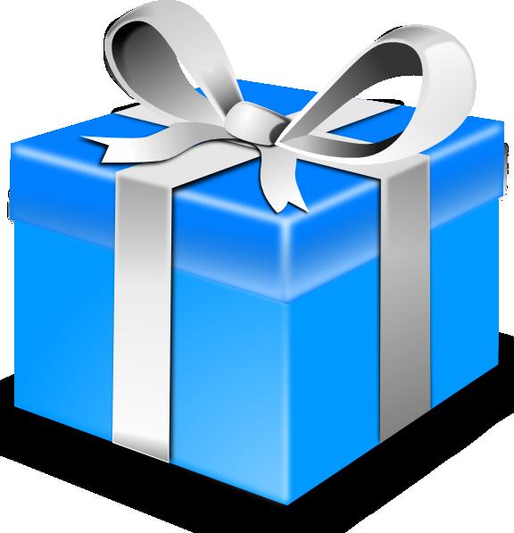 free vector Blue Gift clip art