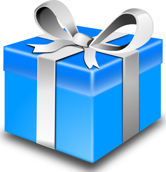 Clip Art Gift Clip Art blue gift clip art free vector 4vector vector