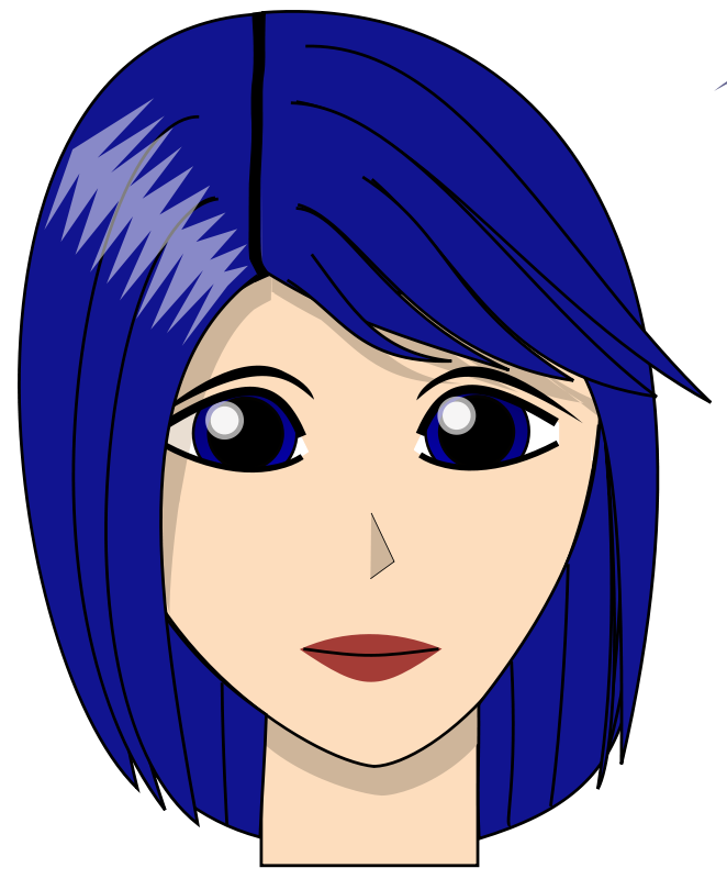 free vector Blue girl dirk struve