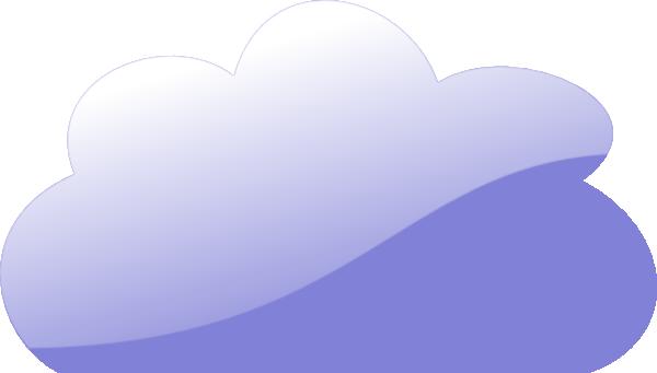 free vector Blue Glassy Cloud clip art