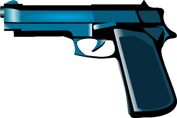 free vector Blue Gun clip art