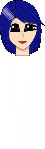 free vector Blue Hair Girl  Head Face clip art