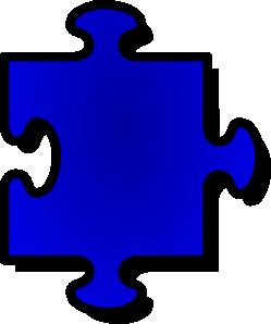 free vector Blue Jigsaw Piece clip art