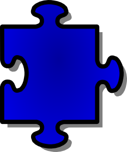 free vector Blue Jigsaw Piece clip art