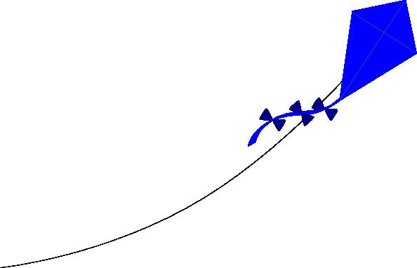 free vector Blue Kite clip art