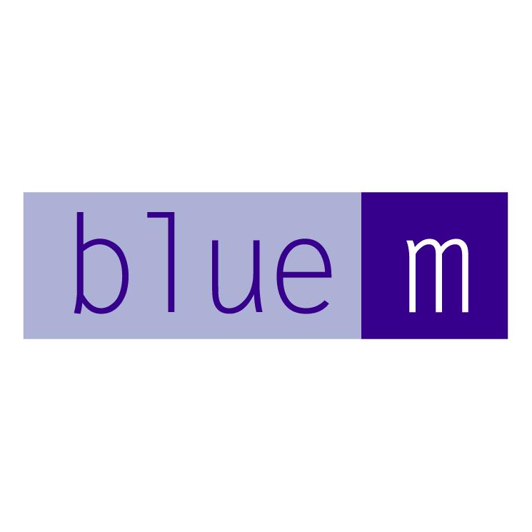free vector Blue m