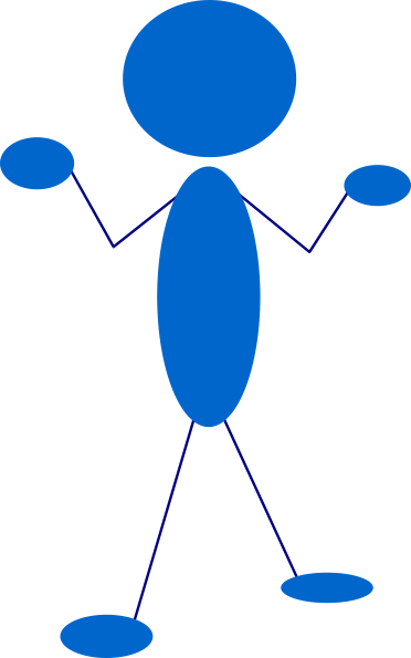 free vector Blue Man Amazed clip art