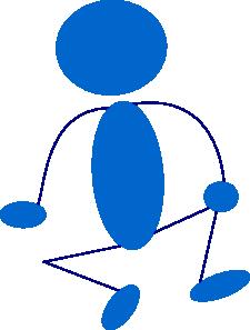 free vector Blue Man clip art