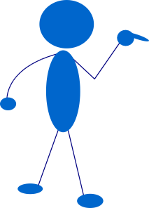 free vector Blue Man clip art