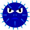 free vector Blue Mine Face clip art