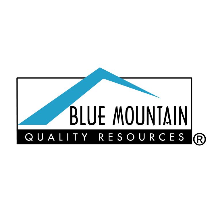 free vector Blue mountain