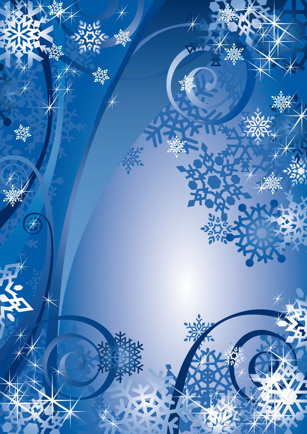 free vector Blue new year background vector
