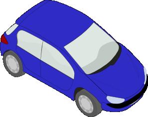 free vector Blue Peugeot 206 clip art