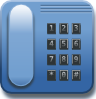 free vector Blue Phone clip art