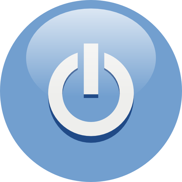 free vector Blue Power Button clip art