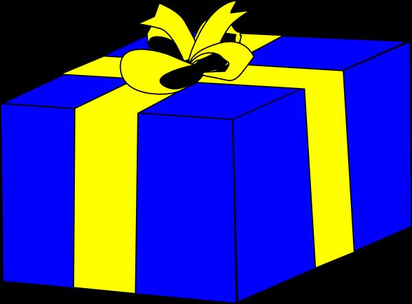 free vector Blue Present clip art