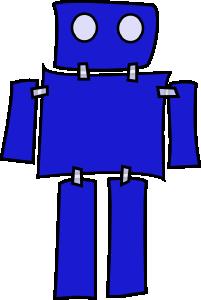 free vector Blue Robot clip art