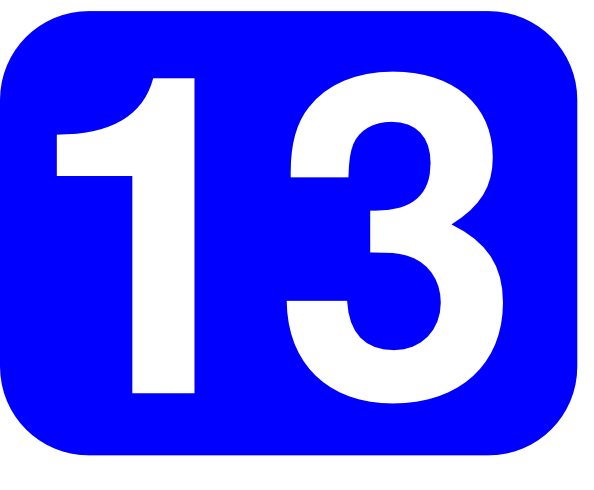 free vector Blue Rounded Rectangle With Number 13 clip art