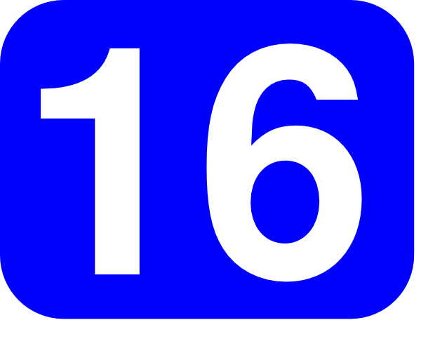 free vector Blue Rounded Rectangle With Number 16 clip art