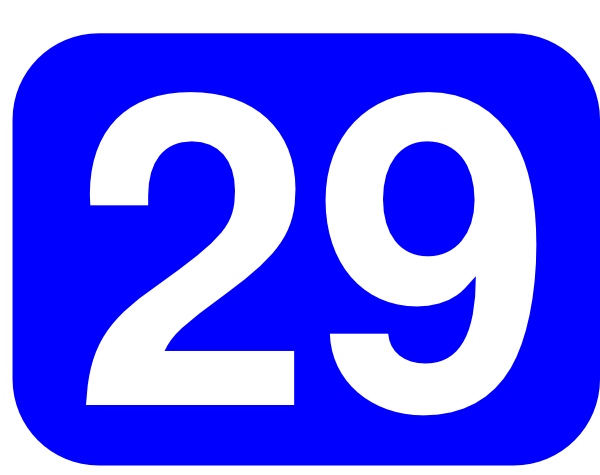 ... free vector Blue Rounded Rectangle With Number 29 clip art