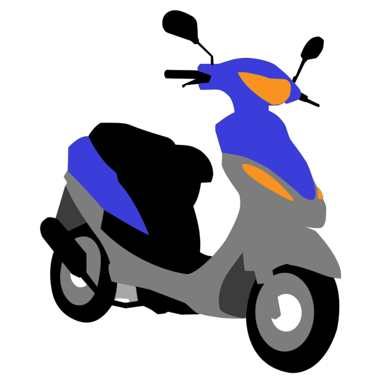 free vector Blue scooter