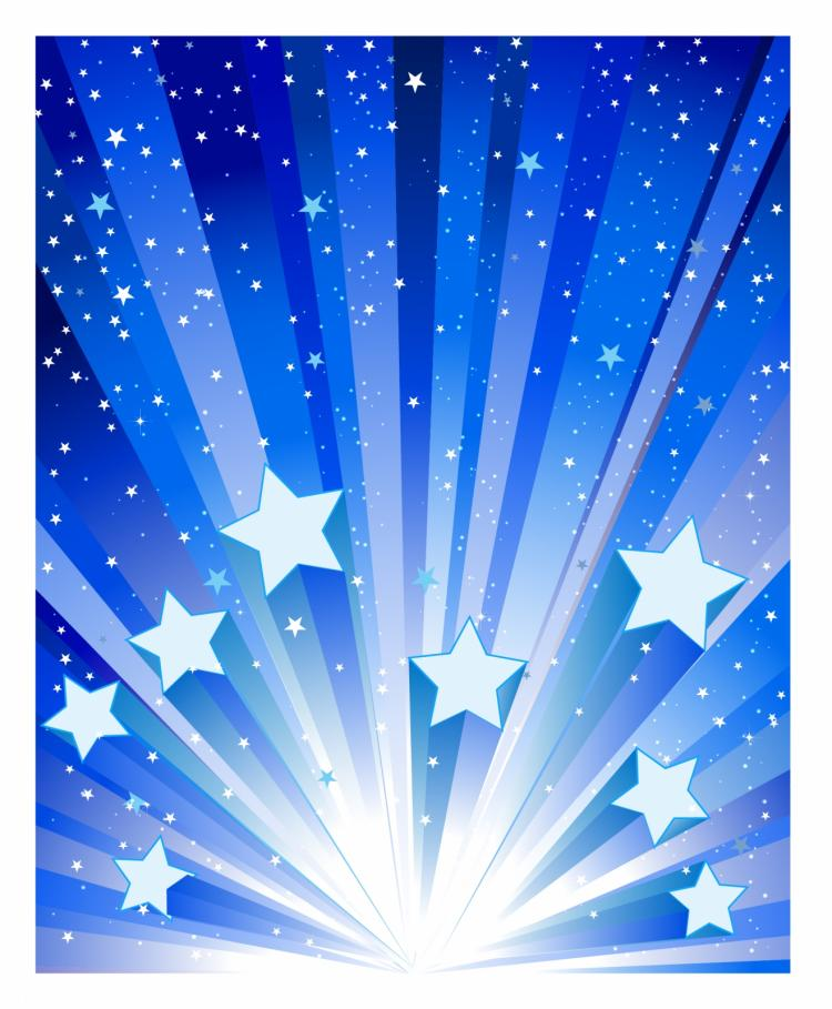 free vector Blue star exploding background