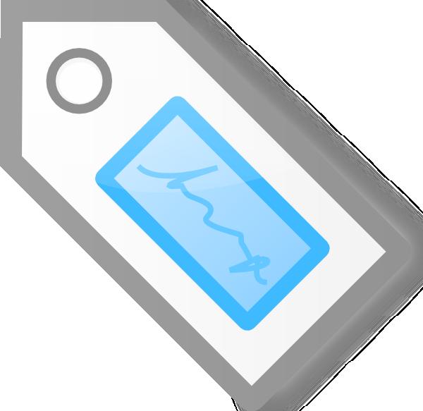 free vector Blue Tag clip art