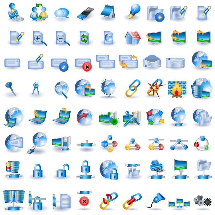 free vector Blue technology icon go vector