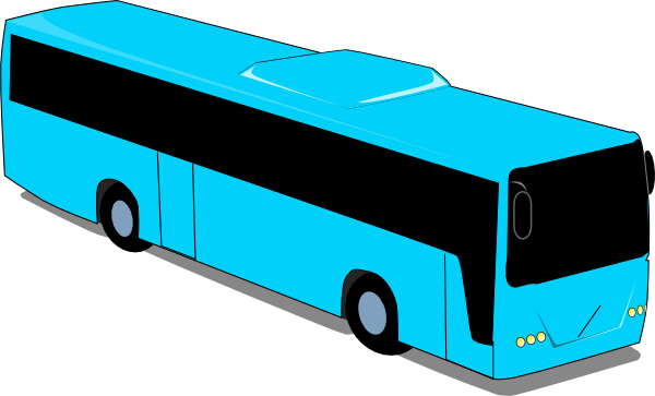 free vector Blue Travel Bus clip art