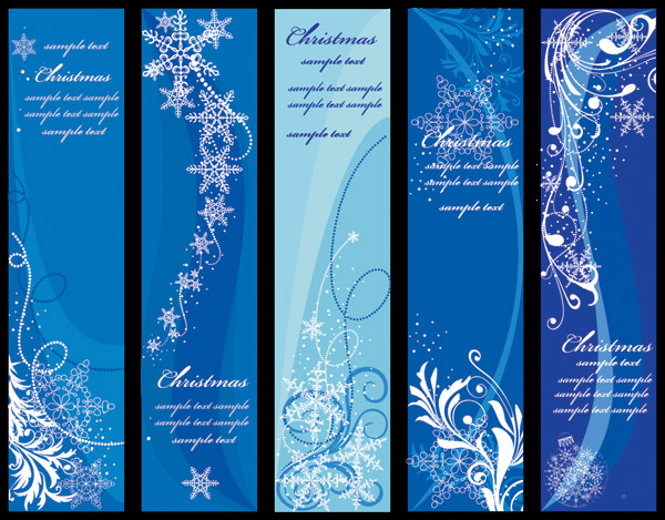 free vector Blue vector christmas background